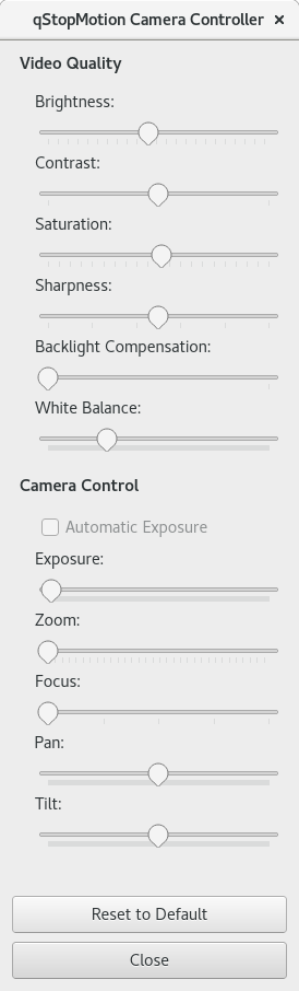 The Camera Controller Window